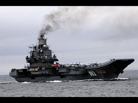 """Russian aircraft carrying missile cruiser """"Admiral Kuznetsov"""" in 60 seconds"""