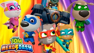 Talking Tom Hero Dash - Discover all the heroes - New character - Full walkthrough - BOSSES - Tablet