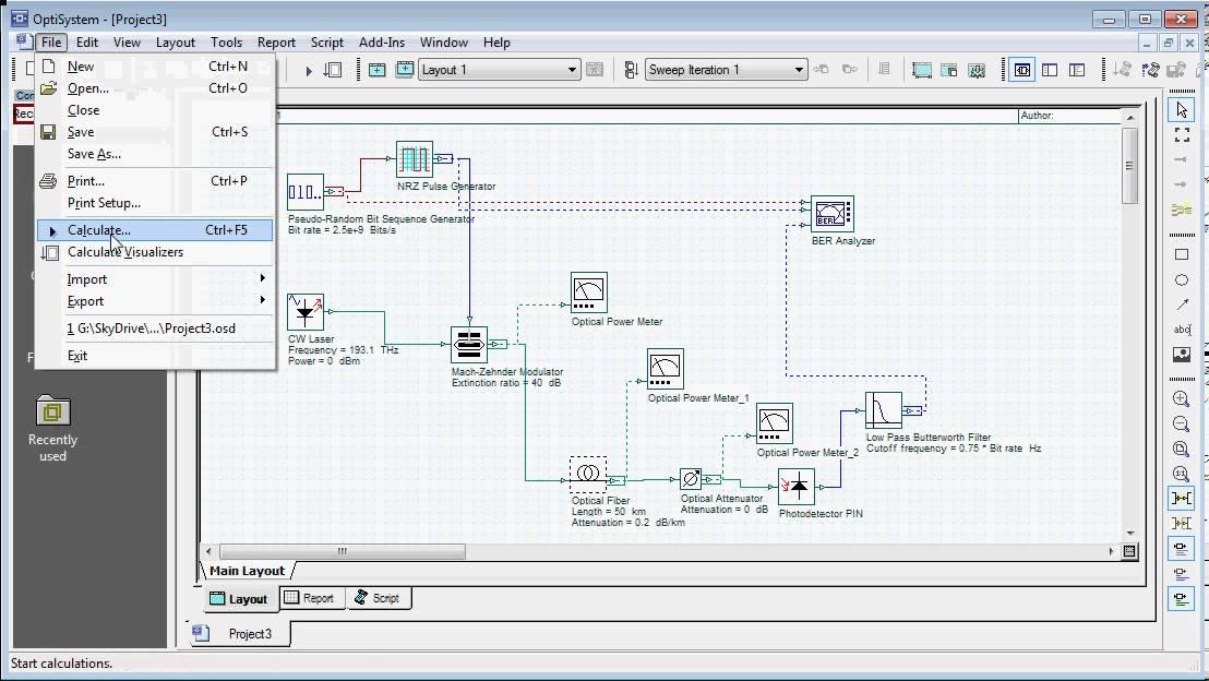 Introduction to Optisystem - Simulation