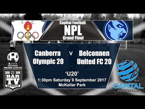 2017 Capital Football NPL - Under 20's Grand Final - Canberra Olympic - Belconnen United