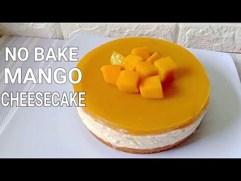 no-bake-mango-cheesecake-|-how-to-make-no-bake-mango-cheesecake-recipe