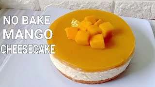 No Bake Mango Cheesecake | How to Make No Bake Mango Cheesecake Recipe
