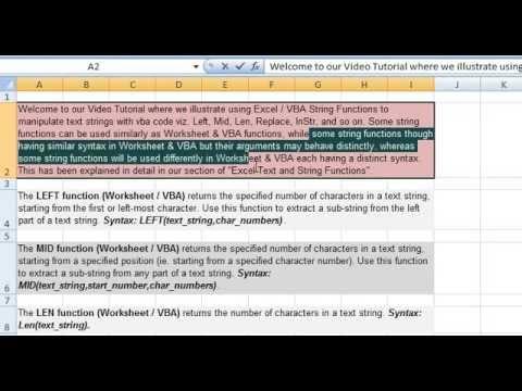 Using Excel VBA String Functions - vba codes to return Odd Number  on vba projects, vba arrays, vba builders,