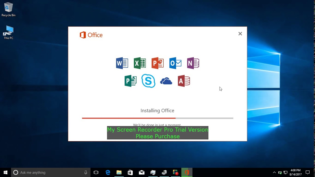 How to install MS Office Pro Plus 2016 for Windows 10 Pro