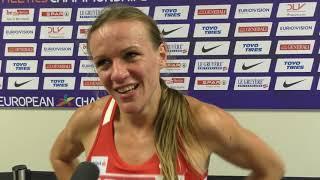 Simona Vrzalová po rozběhu na 1500 m na ME 2018