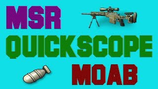 MW3 - MSR Quickscope Only MOAB - [VQ] Sniper Server - PC