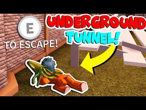 NEW UNDERGROUND ESCAPE TUNNEL! (Roblox Jailbreak UPDATE)