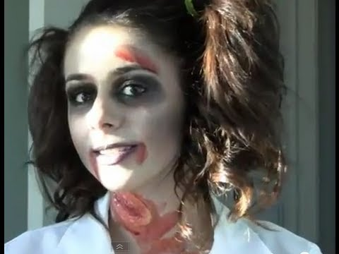 Zombie School Girl Halloween Tutorial - YouTube
