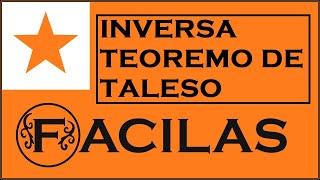 LA INVERSA TEOREMO DE TALESO (ESPERANTO)