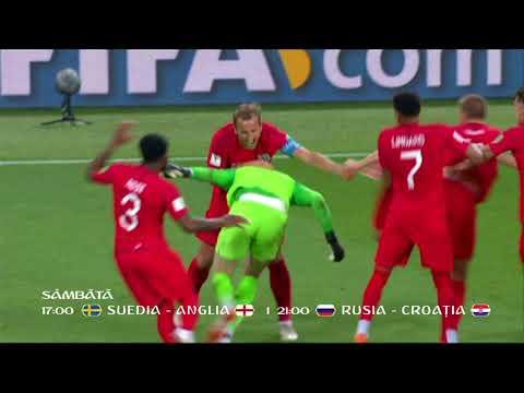 Sferturile CM de Fotbal 2018: Suedia - Anglia şi Rusia - Croaţia, în direct la TVR1