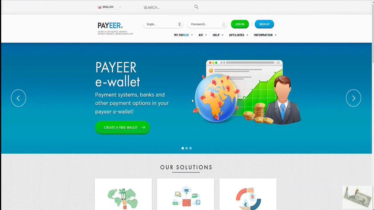 PAYEER eWallet - MANUAL, registration/verification/deposit  / ViewPure