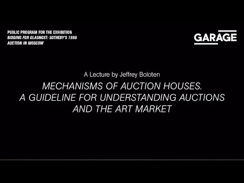 Mechanisms of Auction Houses. A Guideline for Understanding Auctions and the Art Market