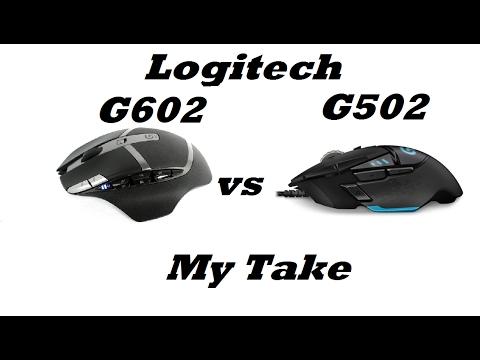 Mouse Comparison Logitech G602 vs G502
