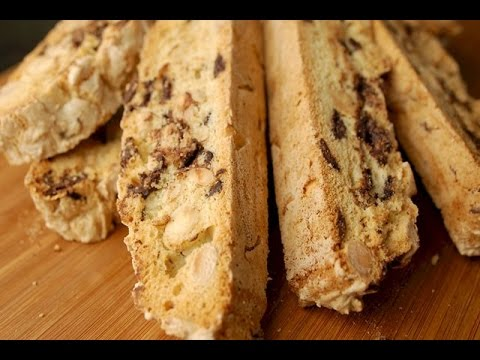 Chocolate Almond Biscotti Recipe Demonstration - Joyofbaking.com