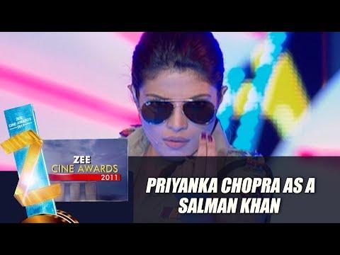 Priyanka Chopra As Salman Khan | Zee Cine Awards 2011