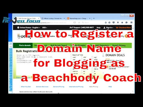 How to Register a Domain Name to Start a Blog as a Beachbody Coach - The Fitness Focus