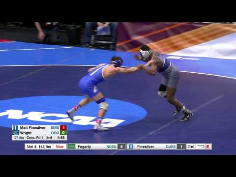 2018 NCAA Wrestling 174lbs: Matt Finesilver (Duke) Dec Seldon Wright (Old Dominion)