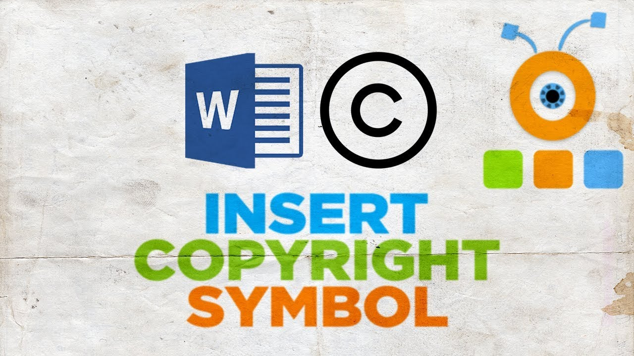 How To Insert A Copyright Symbol In Word Youtube