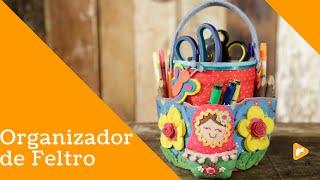 Organizador de Feltro com reciclagem – Vanessa Iaquinto