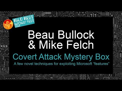 Covert Attack Mystery Box: A Few Novel Techniques For Exploiting Microsoft