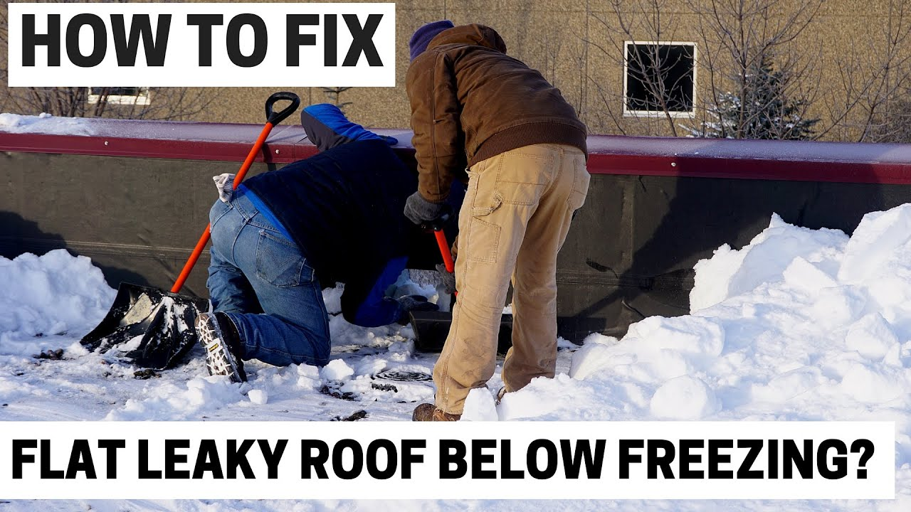 How to Fix a Leaky Roof during cold winter