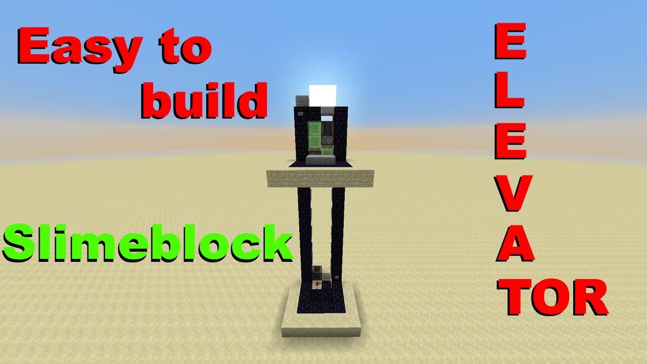 Minecraft 1 11 Simple Slimeblock Elevator Youtube
