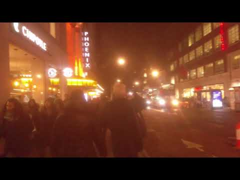 30 November 2017 Walk through corner of Denmark Street to Charing Cross Road