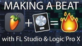 Making a beat with FL Studio 20 & Logic Pro X on Mac! | Beat Maker Tutorials