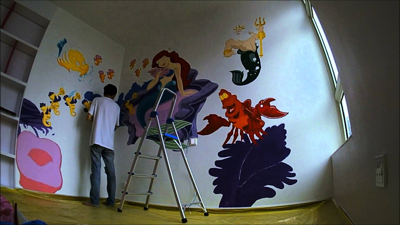 The Little Mermaid Fan Art Theme Mural Wall