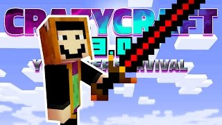BIG BERTHA A 500+ DAMAGE SWORD! | Minecraft CrazyCraft 3.0 (Youtuber Survival) #10