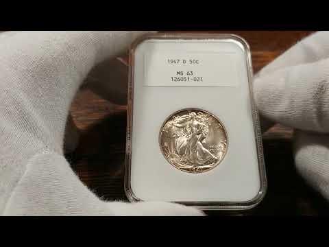 Rare NGC 2.0 Slab Holding A 1947-D Walking Liberty Half Dollar