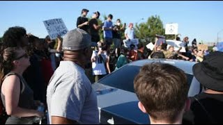 Truck drives through crowd of protesters in Tulsa