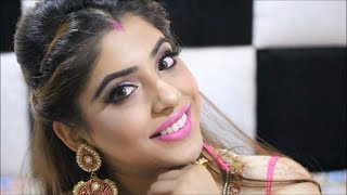 EASY INDIAN WEDDING HAIRSTYLE TUTORIAL | FRONT TWISTED BRAID WITH PUFF