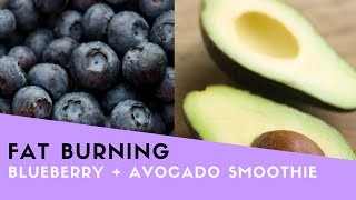 Blueberry + Avocado Fat Burning Smoothie Recipe!