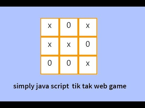 Simple Java Script Tik Tok Tou Web Game  |  HTML |  CSS |  JAVA SCRIPT