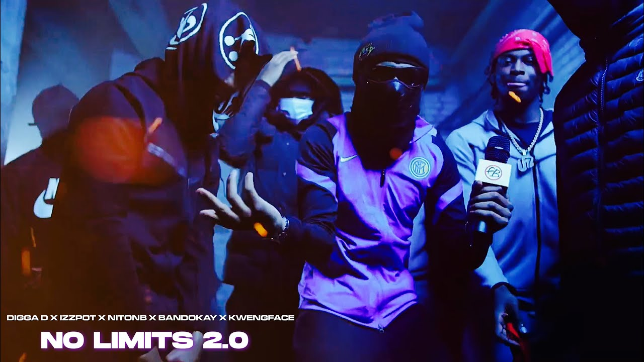 Download Digga D X Izzpot X NitoNB X Bandokay X Kwengface - No Limits 2.0 (Music Video)