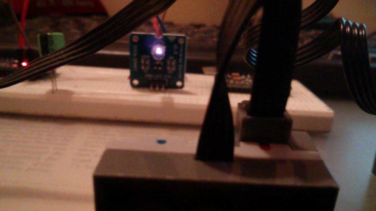Banggood Mini 38khz Ir Infrared Transmitter Module With Lego Youtube Infraredtransmittercircuitlabeledonbreadboardjpg