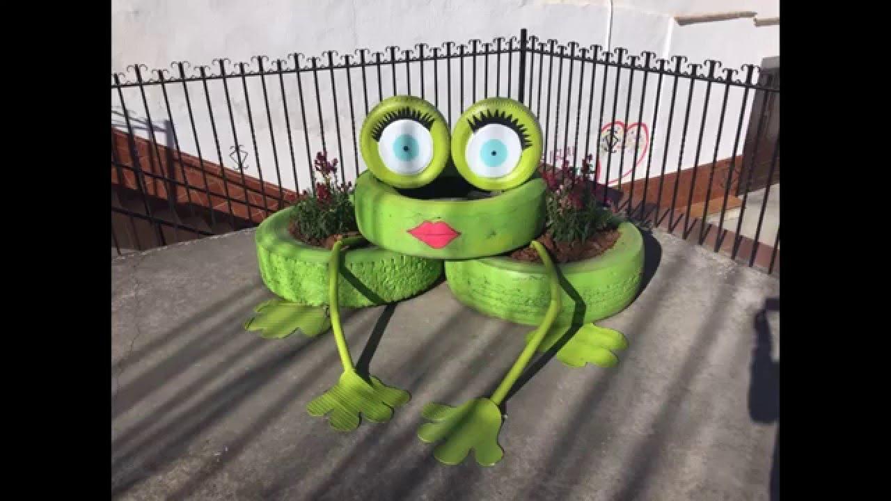 Macetas rana y tortuga youtube for Cobertizo de plastico para jardin