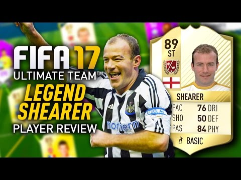 FIFA 17 LEGEND ALAN SHEARER (89) PLAYER REVIEW! FIFA 17 ULTIMATE TEAM!