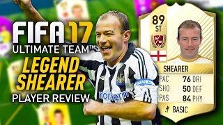 FIFA 17 LEGEND ALAN SHEARER (89) PLAYER REVIEW! FIFA 17 ULTIMATE TEAM!