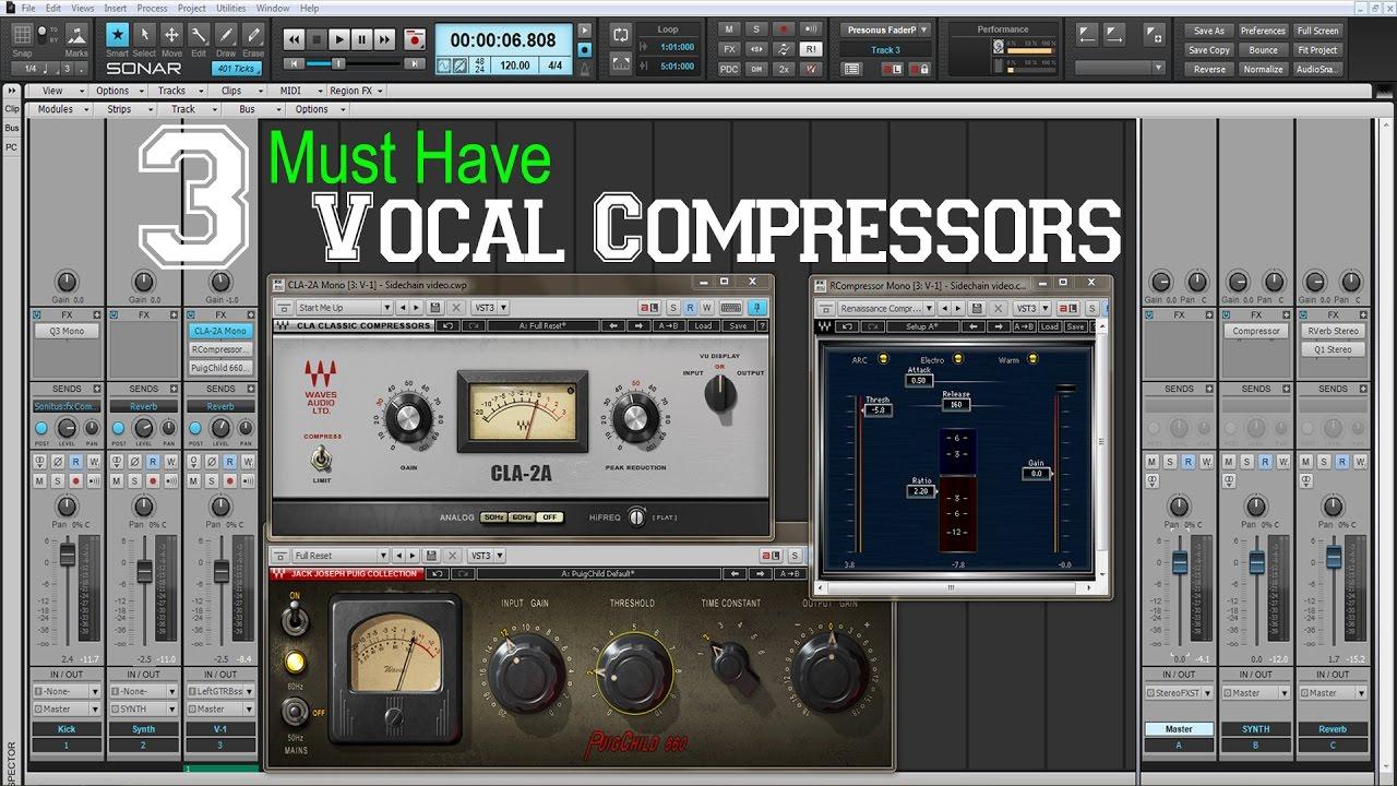 Best Compressor Plugins for Vocals | The Little Red Light