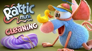 Funny Cartoon | Rattic Mini – Cleaning | Funny Cartoons For Children & Kids | Funny Kids Videos
