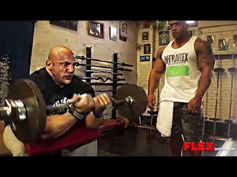 Big Ramy and Dennis James Train Arms For Mass - 2 Weeks Out from the NY Pro!