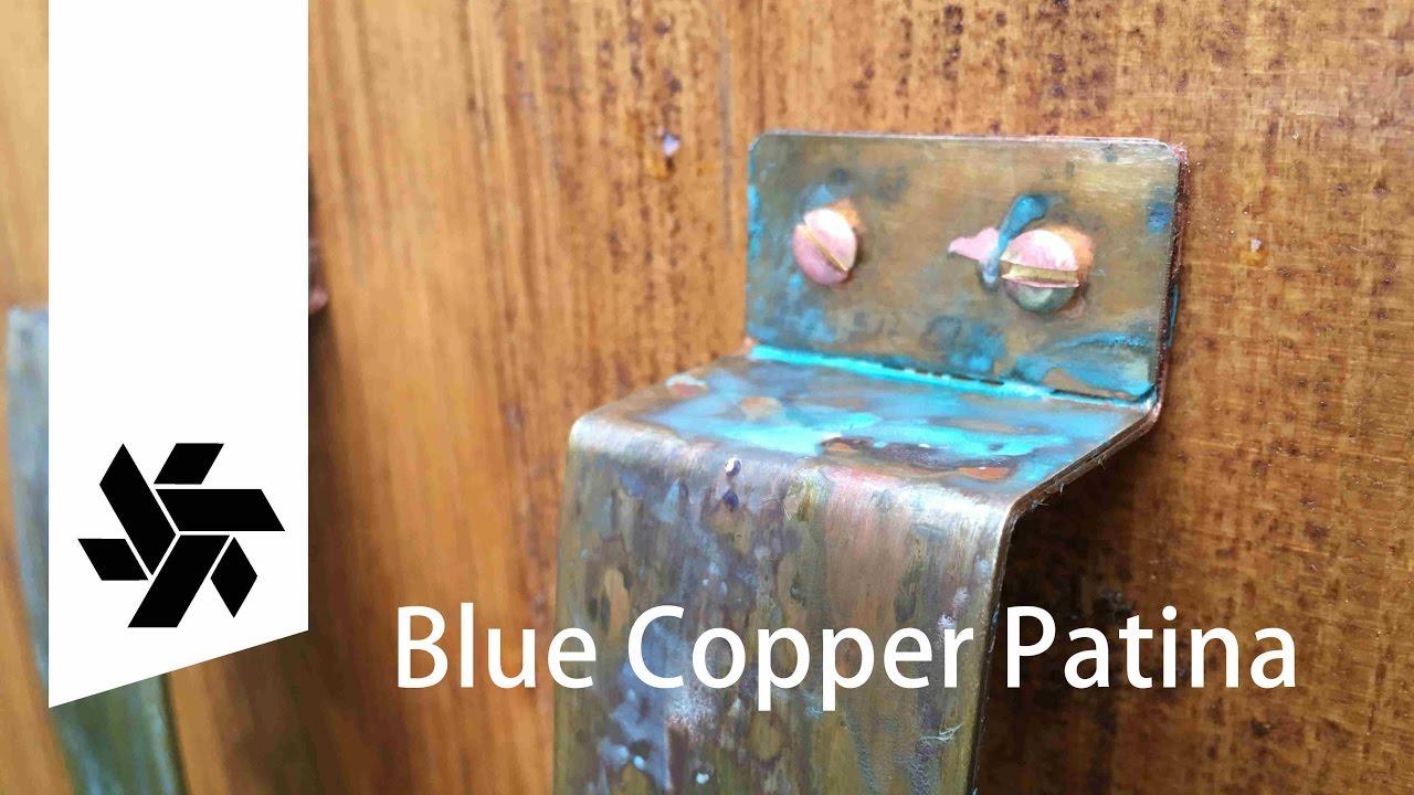 Blue Copper Patina Corrosion