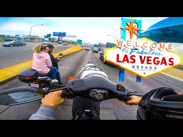 EXTREME SCOOTER RIDING IN LAS VEGAS!!
