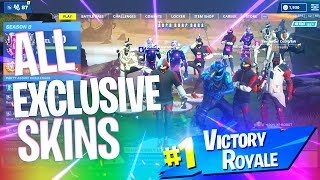 The Most EXPENSIVE Squad Ever in FORTNITE! (All Exclusive Skins)
