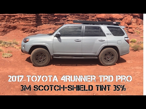 【14】3m-scotch-shield-35%-tint.-smash-resistance!!-must-see!!-2017-4runner-trd-pro-cement-[hd]