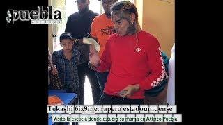 Tekashi 6ix9ine, rapero estadounidense, regala 2 mil dólares a alumnos de escuela de Atlixco, Puebla
