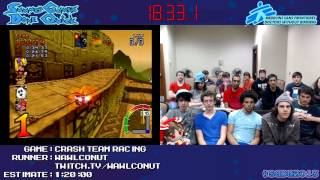 Crash Team Racing - SPEED RUN (0:58:15) [PS1] *Live at #SGDQ 2013*