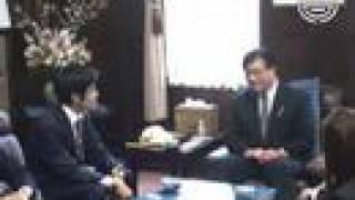 オリンピック男子マラソン代表 佐藤敦之選手が市長を訪問